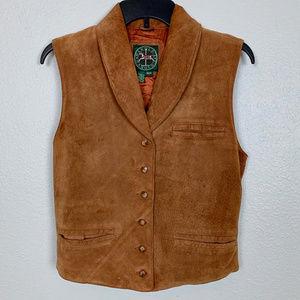 Harold's vintage brown suede leather vest